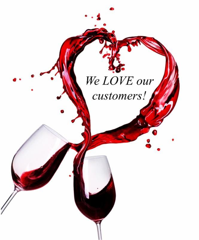 wine glass - love customers