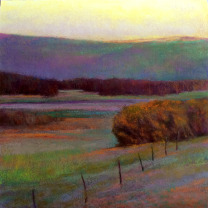 """View to Queen Hill"" by Ken Elliott, Giclee on Paper, 28"" x 28"""