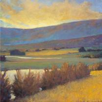 """View Across the River"" by Ken Elliott, Giclee on Paper, 28 x 28"