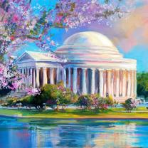 """Jefferson Monument in Springtime"" by Jennfier Bowman"