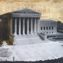 "Supreme Court Building, 24"" x 42"" by Melanye"