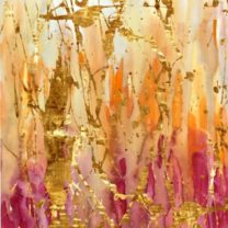 LA-JI0315-Lucid Golds 40 x 60 lmted ed on Canvas hand embellished gold leaf acrylic fr (2)